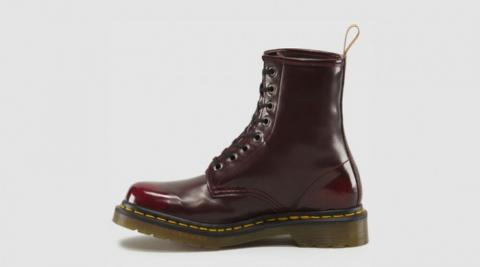 Vegan 1460 Cherry Red 8 Hole Boot Nice Shoes